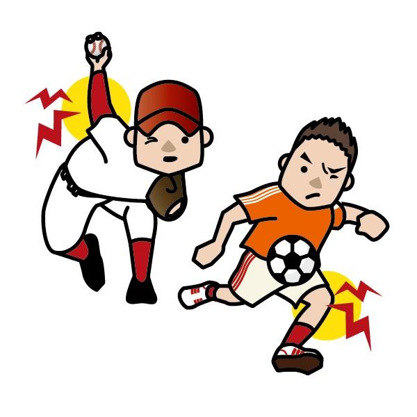 スポーツする少年のイラスト