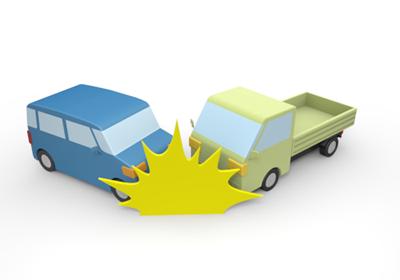 衝突する車のイラスト1